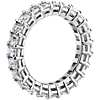 Emerald Cut Diamond Eternity Ring in Platinum (4.0 ct. tw.)