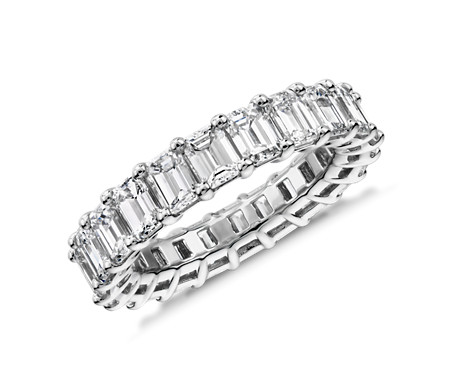 Emerald Cut Diamond Eternity Ring in Platinum (5.0 ct. tw.)
