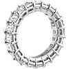 Emerald Cut Diamond Eternity Ring in Platinum (6.0 ct. tw.)