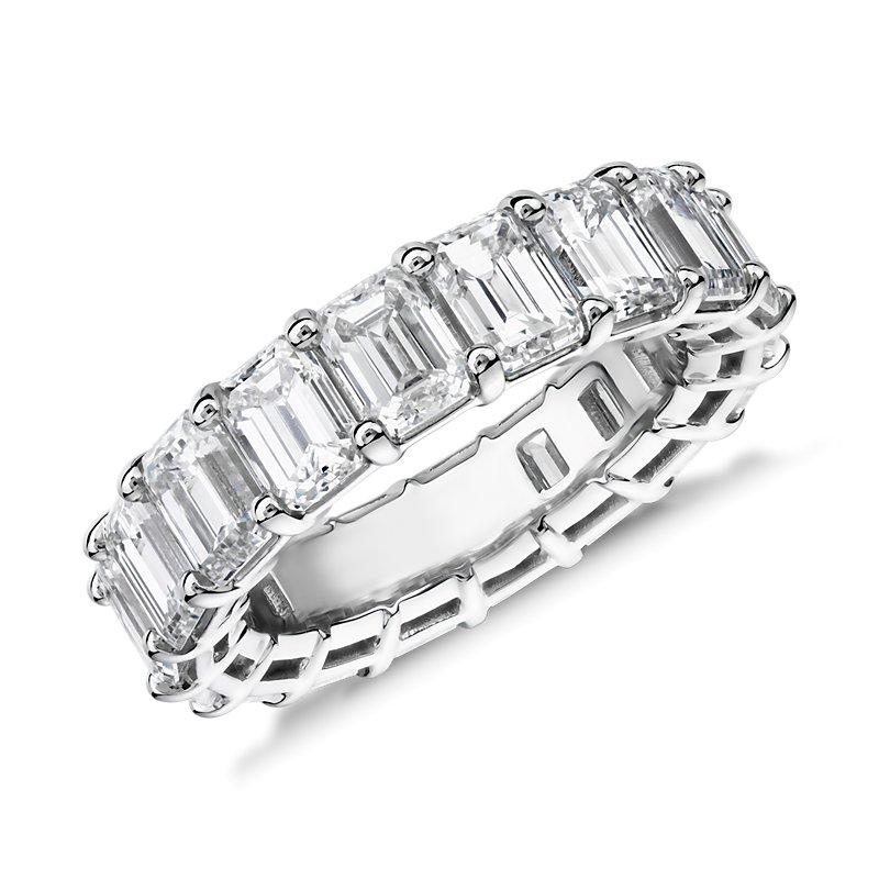 Emerald Cut Diamond Eternity Ring in Platinum (7.0 ct. tw.)
