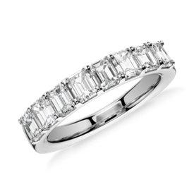 Classic Emerald Cut Diamond Ring in Platinum (2 ct. tw.)
