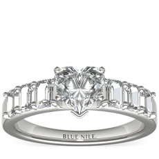 Emerald Cut Diamond Engagement Ring in Platinum (1 ct. tw.)