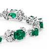 Emerald and Diamond Bracelet in 18k White Gold