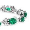 Emerald and Diamond Bracelet in 18k White Gold (7x5mm)