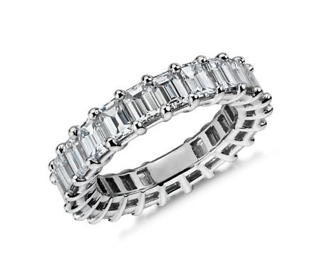 Emerald Diamond Eternity Ring in Platinum (5.35 ct. tw.)