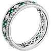 Gala Emerald and Diamond Eternity Ring in 18k White Gold