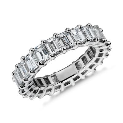 NEW Emerald-Cut Diamond Eternity Ring in Platinum (5.5 ct. tw.)