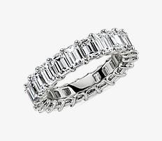 Emerald Cut Diamond Eternity Ring in Platinum (5.5 ct. tw.)