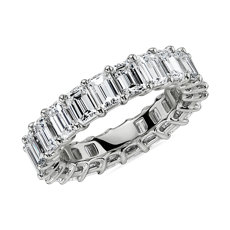 Emerald Cut Diamond Eternity Ring in Platinum- G/VS2 (5.5 ct. tw.)
