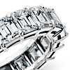 Emerald Cut Diamond Eternity Ring in Platinum (11 ct. tw.)