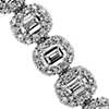 Emerald Halo Diamond Tennis Bracelet in 18k White Gold (7 1/6 ct. tw.)