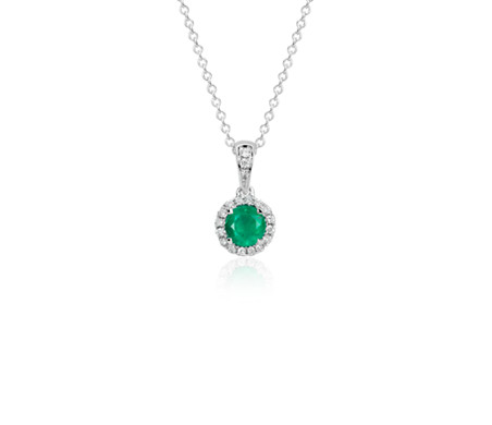 in necklaces thediamondstore uk emerald co white gold and stellato diamond necklace pendants cfm