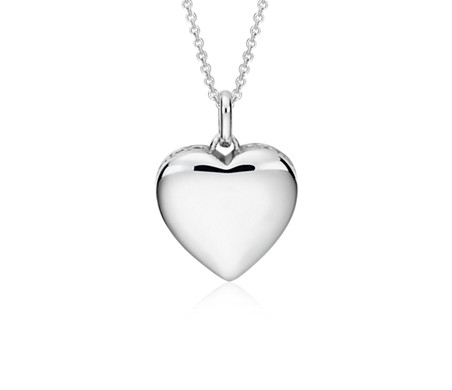 Infinity Heart Pendant in Sterling Silver