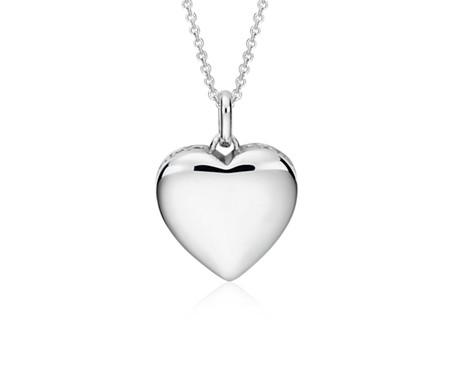 Colgante Infinity con forma de corazón en plata de ley