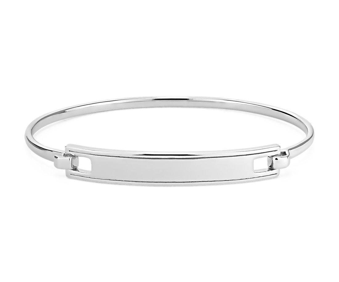 Engravable Hinge Bar Bracelet in Sterling Silver