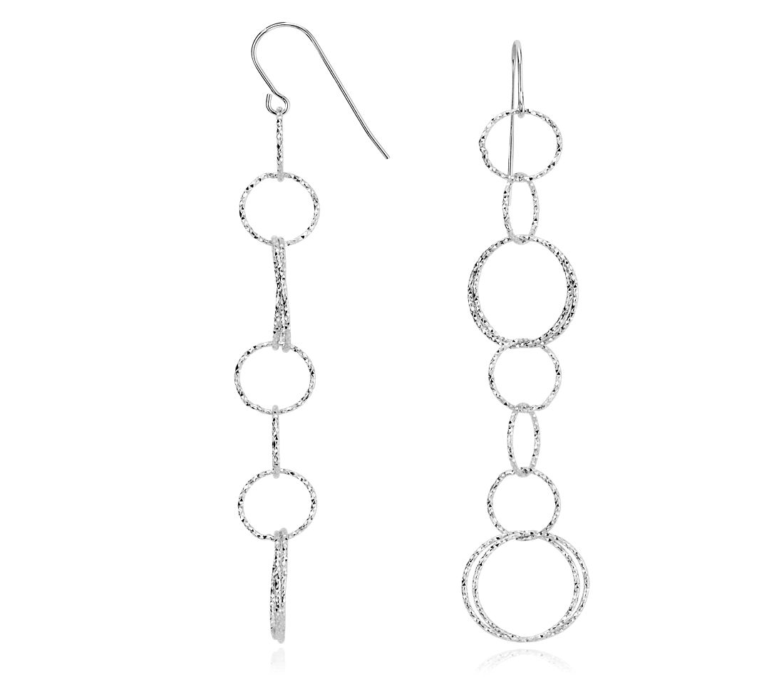 Ensemble Links Drop Earrings in Sterling Silver
