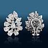 Estate Diamond Cluster Earrings in 14k White Gold (5.96 ct. tw.)