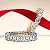 14k 黃金永恆五石鑽石戒指 (1 克拉總重量) 的第一個替代檢視圖