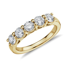 Eternal Five Stone Diamond Ring in 14k Yellow Gold (1 ct. tw.)