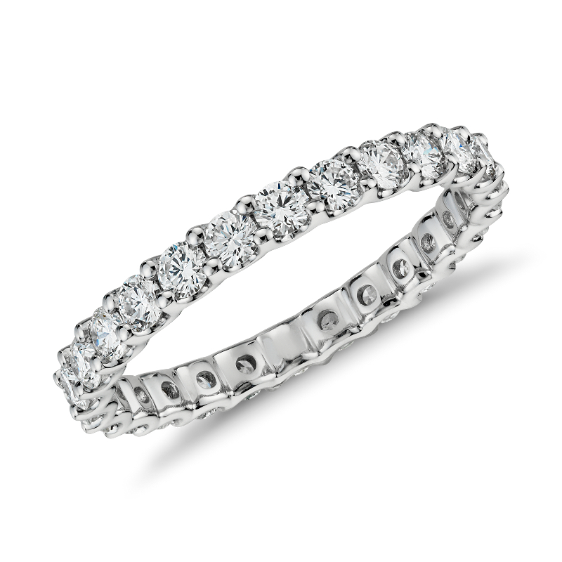 Luna Diamond Eternity Ring in 14k White Gold (1 ct. tw.)