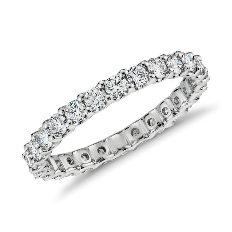 Luna Diamond Eternity Ring in Platinum (1 ct. tw.)