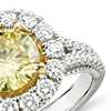 Fancy Intense Yellow Diamond Halo Ring in 18k White and Yellow Gold (2.94 ct. tw.)