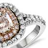 Fancy Light Pink Diamond Ring in Platinum and 18k Rose Gold (1.23 ct. tw.)