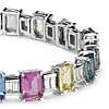 Fancy Sapphire and Diamond Bracelet in 18k White Gold (30.60 ct. tw.)