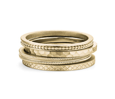 14k Gold Stacking Ring