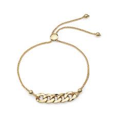 Figaro Bolo Bracelet in 14k Yellow Gold