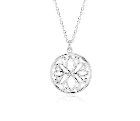 Fiore Pendant in Sterling Silver
