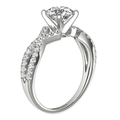Fishtail Infinity Twist Diamond Engagement Ring