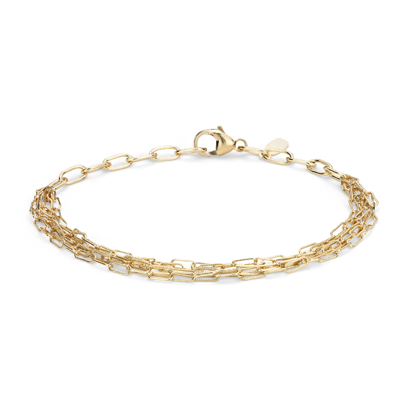 Delicate Five Row Bracelet in 14k Yellow Gold