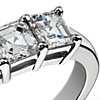 Classic Asscher Cut Five Stone Diamond Ring in Platinum (1.50 ct. tw.)