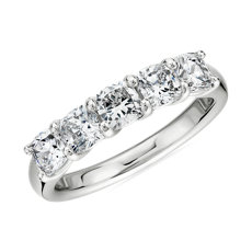 NEW Five Stone Cushion Cut Diamond Band in Platinum- G/SI1 (1 1/2 ct. tw.)