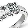 Classic Emerald Cut Five Stone Diamond Ring in Platinum (1.50 ct. tw.)