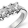 Classic Princess Cut Five Stone Diamond Ring in Platinum (1 ct. tw.)