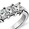 Classic Princess Cut Five Stone Diamond Ring in Platinum (1.50 ct. tw.)