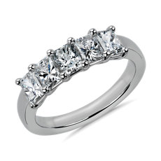 NEW Five Stone Radiant Cut Diamond Ring in Platinum - G/SI1 (1.45 ct. tw.)