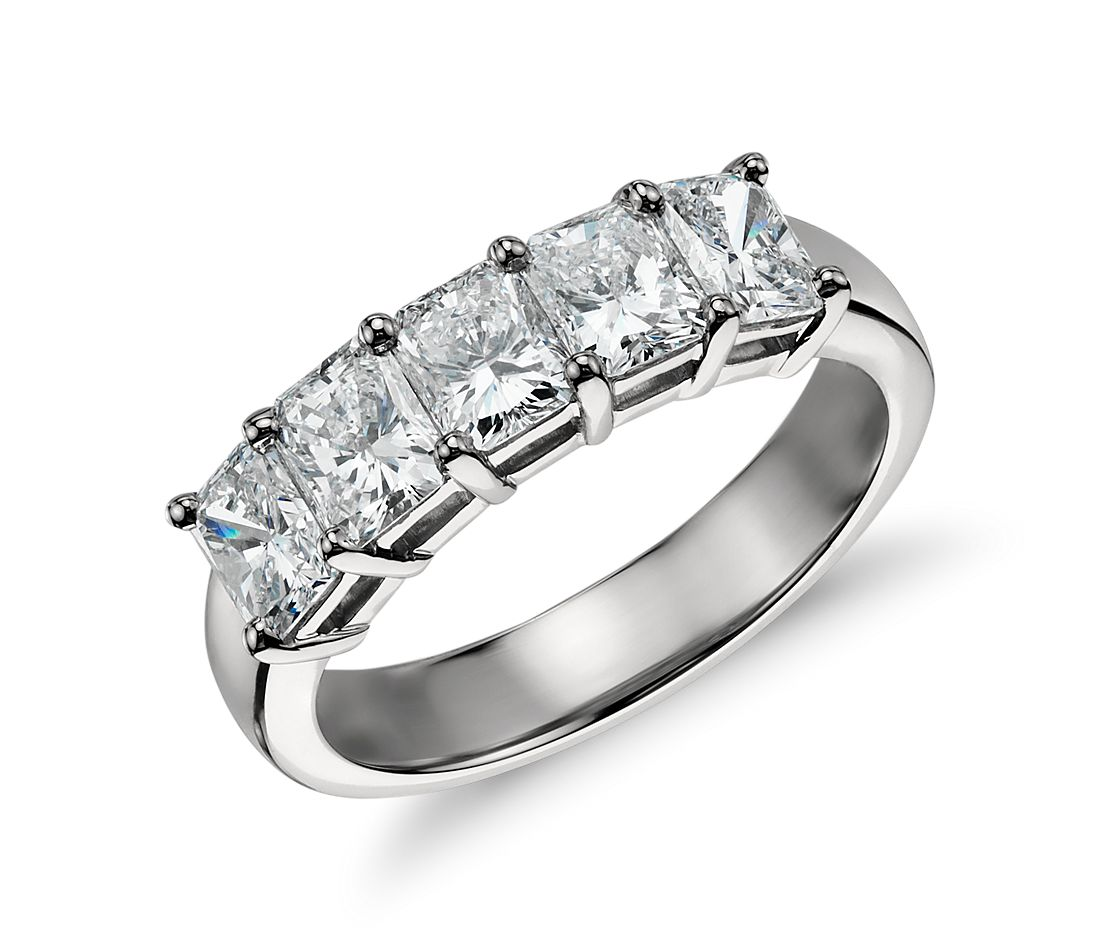 Five Stone Diamond Ring Platinum