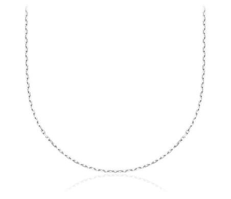 Flat Link Chain Choker in Sterling Silver