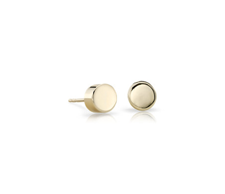 earrings main lrg stud phab yellow gold flat detailmain in round