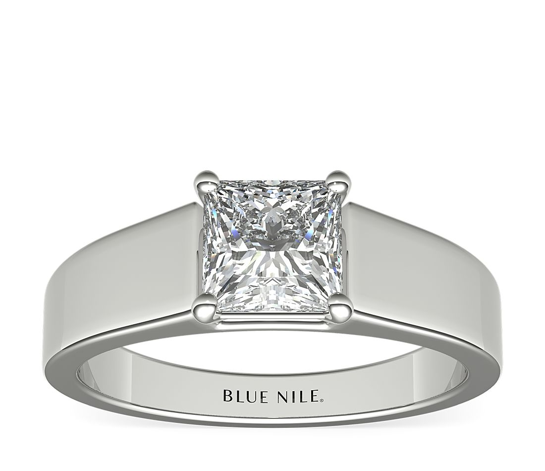 Blue Nile Wide Band Solitaire