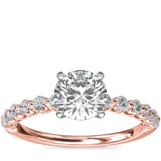 NEW Floating Diamond Engagement Ring in 14k Rose Gold (1/3 ct.tw.)