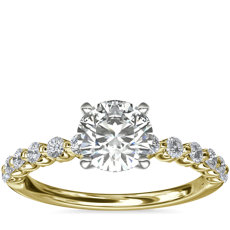 NEW Floating Diamond Engagement Ring in 14k Yellow Gold (1/3 ct.tw.)