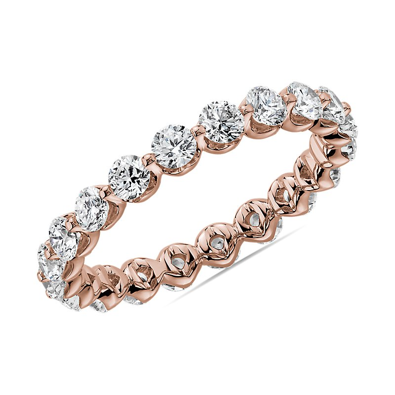 Floating Diamond Eternity Band in 14k Rose Gold (1 1/2 ct. tw.)