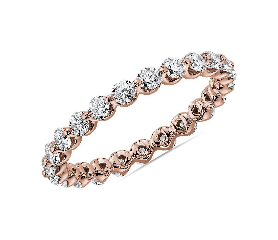 Floating Diamond Eternity Band in 14k Rose Gold (1 ct. tw.)