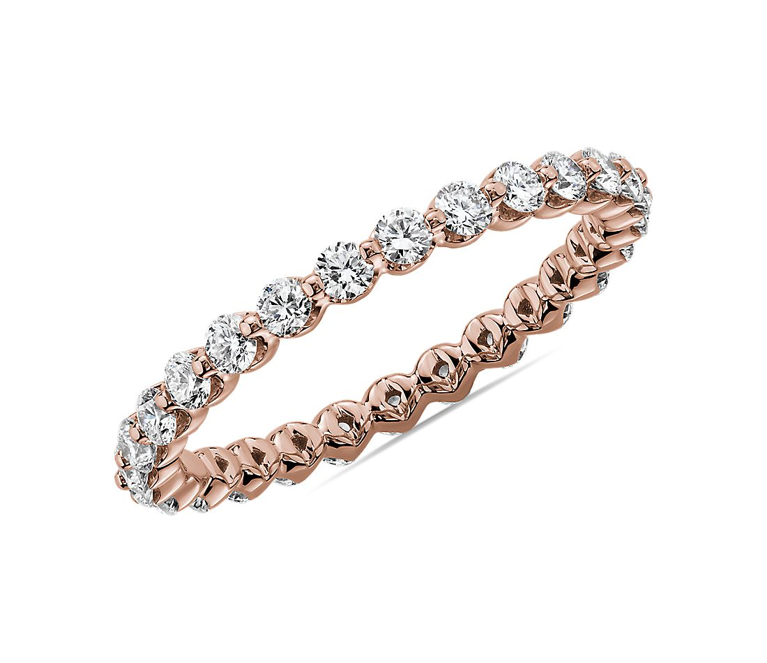 Floating Diamond Eternity Band in 14k Rose Gold (3/4 ct. tw.)