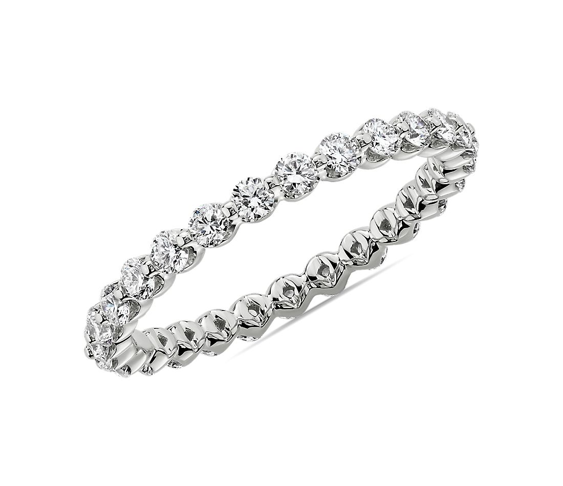 Floating Diamond Eternity Band in 14k White Gold (3/4 ct. tw.)