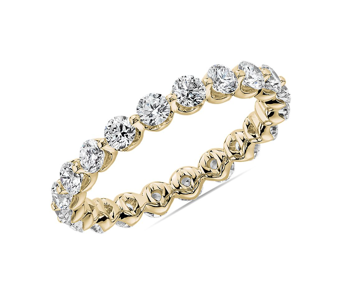 Floating Diamond Eternity Band in 14k Yellow Gold (1 1/2 ct. tw.)